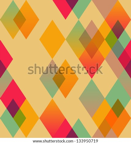 Rhombus abstract seamless pattern - stock vector