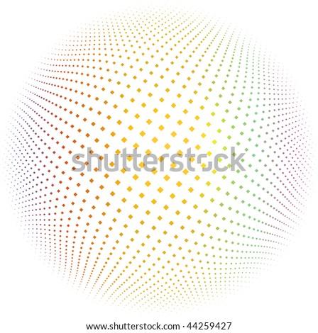rhombus magenta dots - vector design element - stock vector