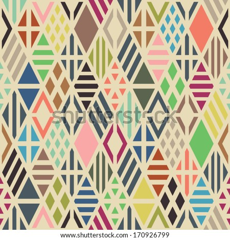 Rhombuses seamless pattern. Geometric background. - stock vector
