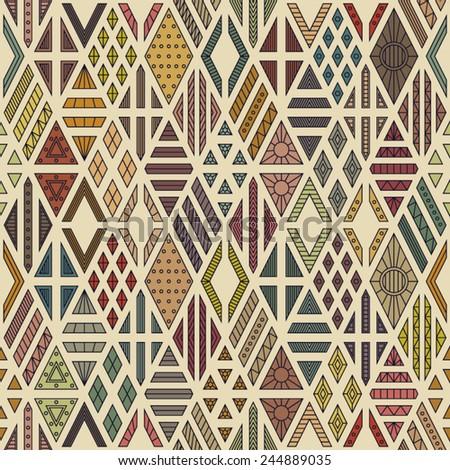 Rhombuses seamless pattern. Geometric background. - stock vector