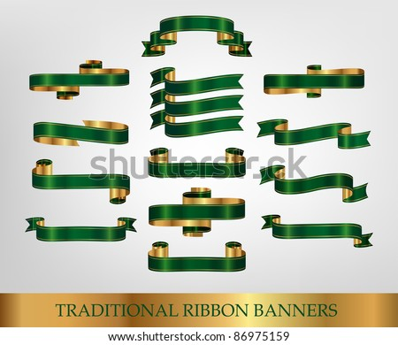 Ribbon and banner collection - stock vector