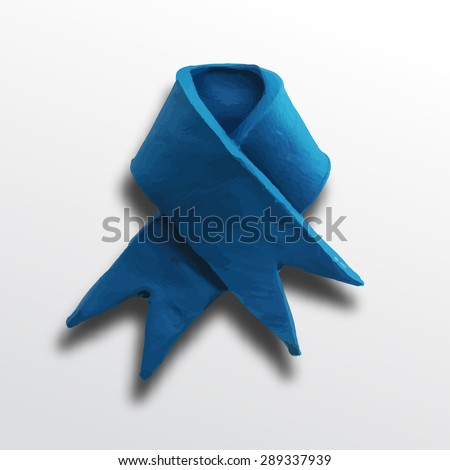 Ribbon, badge or batch for 4 July American Independence Day and other events, isolated on white color background. Vector illustration. Plasticine modeling. - stock vector