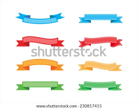 Ribbon banner set.Vector illustration. - stock vector