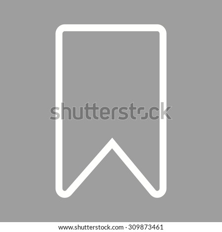Ribbon, bookmark, label icon vector image. Can also be used for computer hardware, computer network and connection. Suitable for use on web apps, mobile apps and print media. - stock vector
