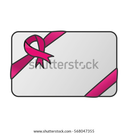 ribbon breast cancer awarenes related icon image vector illustration design