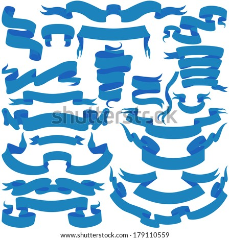 Ribbon Collection for Your Design. Vector - stock vector