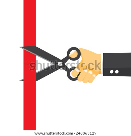 Ribbon Cutting - stock vector