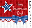 Ribbon Happy Independence Day card in vector format. - stock photo