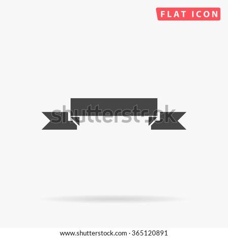 Ribbon Icon Vector.  - stock vector