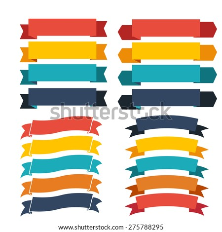 ribbon icons - stock vector