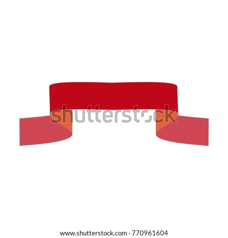 Ribbon Red Award Sign Wavy Emblem Stock Vector 770961604 - Shutterstock