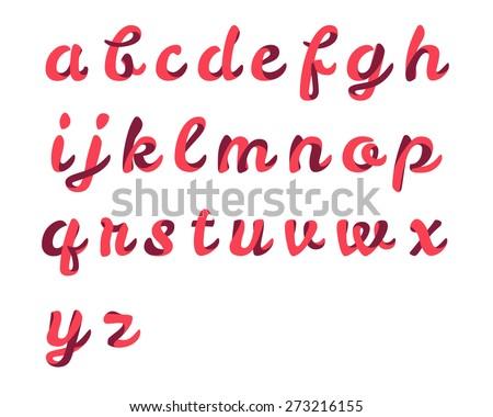 Ribbon script font - stock vector