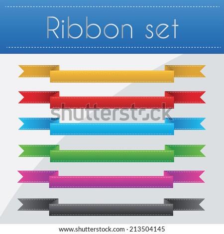 Ribbon set vector illustration - stock vector
