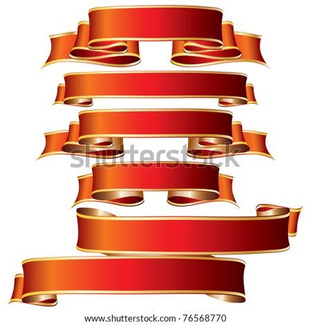 Ribbon. Vector illustration. - stock vector