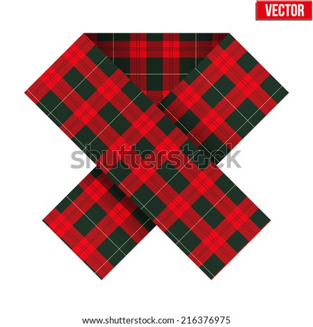 ribbon with texture in the cell tissue to support the Scottish referendum. Vector Illustration Isolated on white background. - stock vector