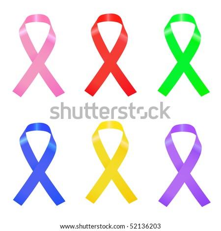 Ribbons Illustration - stock vector