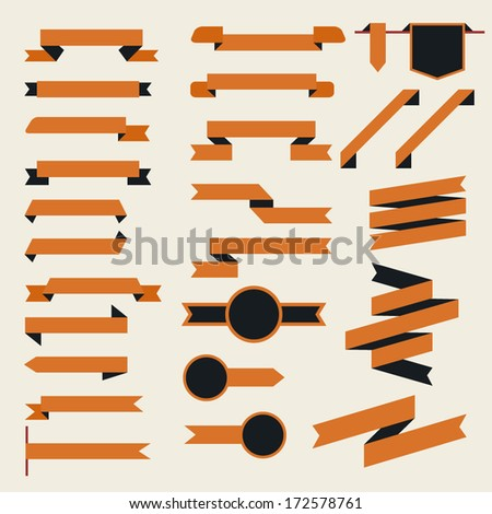 Ribbons Set - Vector Illustration - stock vector