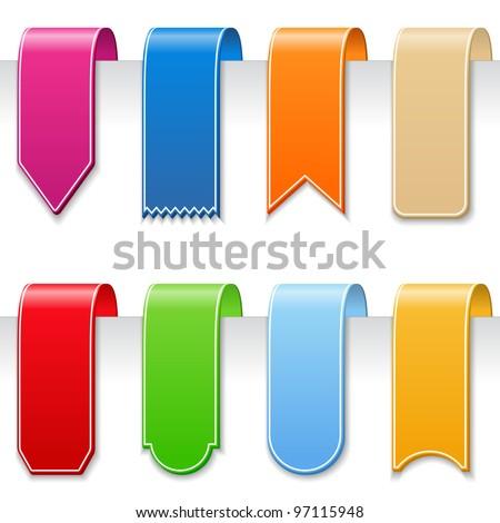 Ribbons, vector eps10 illustration (transparent shadows) - stock vector