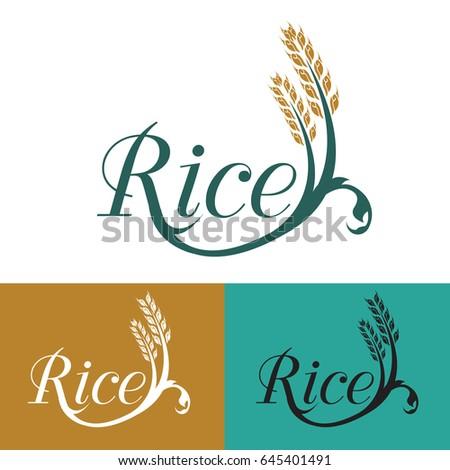 Rice logo vector
