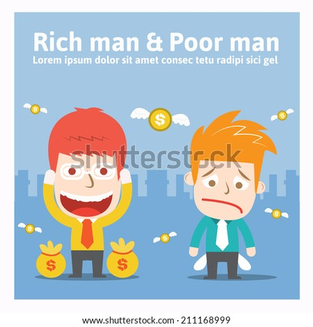 Rich man poor man stock images royalty free images vectors rich man poor manvector cartoon business sciox Images