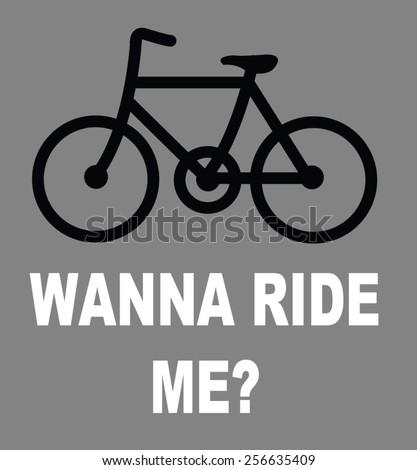 ride me - stock vector