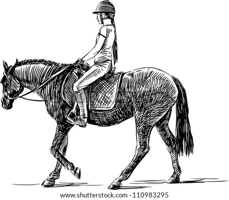 rider - stock vector