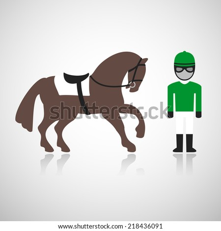 Rider and horse. Eps10 - stock vector