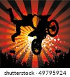 rider vector background - motorcross poster - stock vector