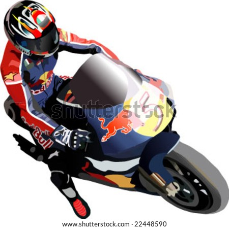 riding motorcycle great details vector