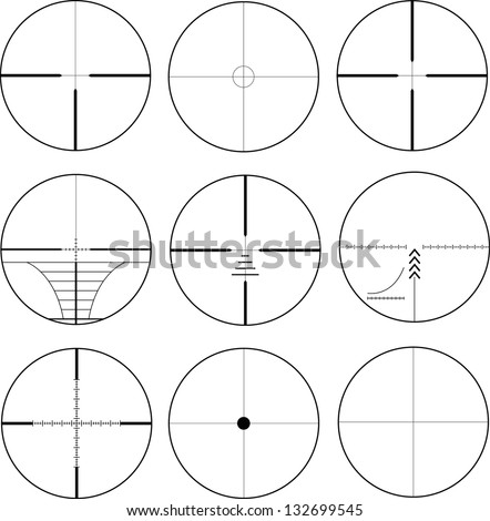 rifle optical sight - stock vector