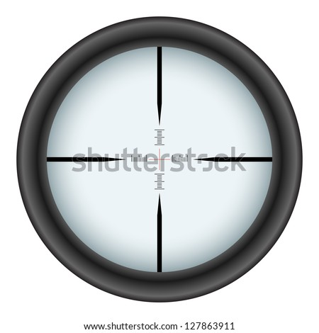 Rifle scope crosshair isolated on white background. - stock vector