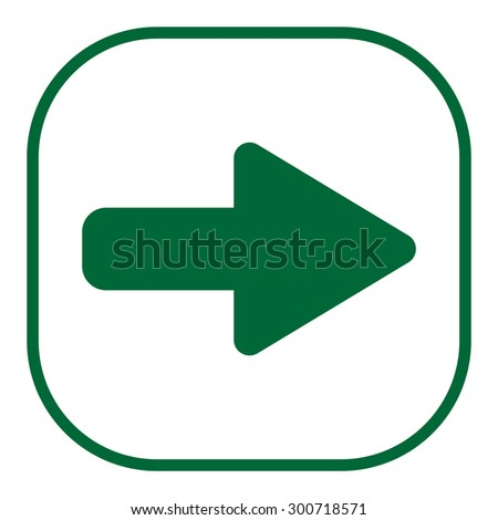 Right arrow symbol icon - stock vector