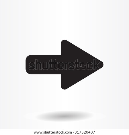 Right Arrow Symbol Icon Stock Vector Hd Royalty Free 317520437