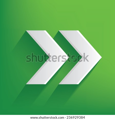 Right Arrow Symbol On Green Backgroundclean Stock Vector 236929384
