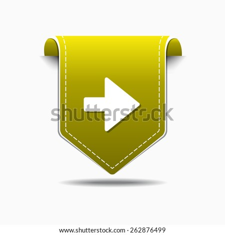 Right Arrow Yellow Vector Icon Design