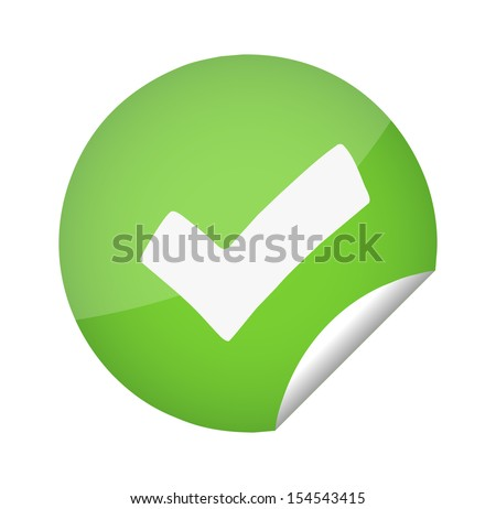 right  check mark  - stock vector