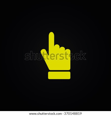 Right forefinger pointing to. - stock vector