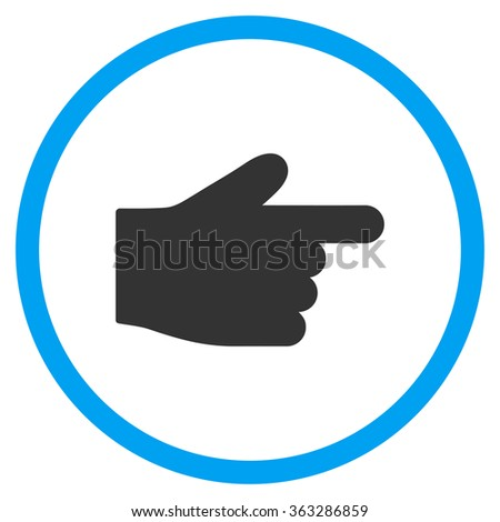 Right Index Finger Icon - stock vector