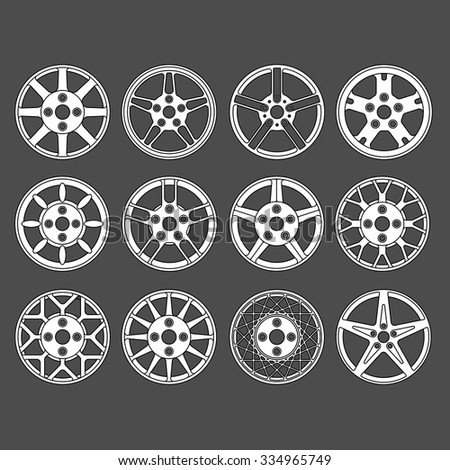 Rim vector set. - stock vector