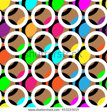 Ring and color abstract background pattern. Colored circles, colored rings, colored spots, colored dots. Vector illustration. - stock vector
