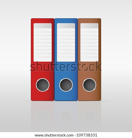 ring-binder - stock vector