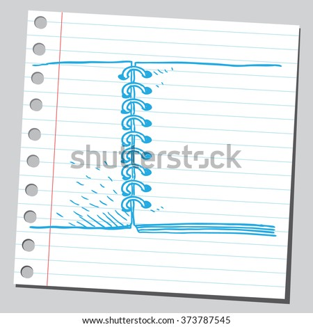 Ring binder - stock vector