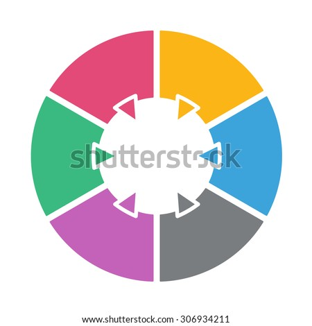 stock vector ring diagram of six colored sections template infographics 306934211 ring diagram six colored sections template stock vector 281687333 ring diagram at soozxer.org