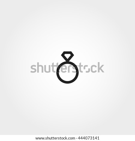 ring icon - stock vector