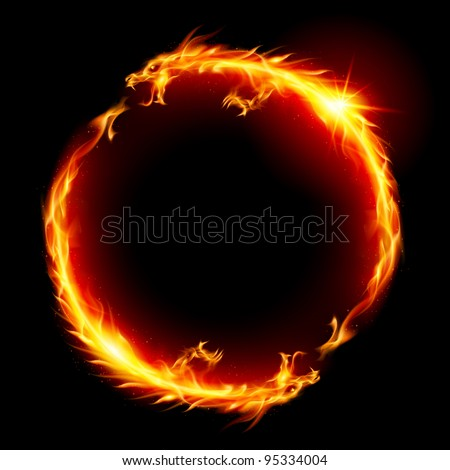 Ring of Fire of the Dragon. Illustration on white background.