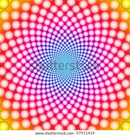 Ring optical illusion - stock vector