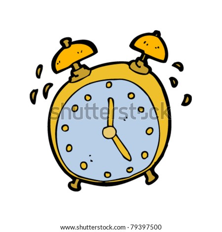 ringing alarm clock cartoon - stock vector