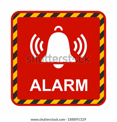 Ringing bell icon. Alarm sign. - stock vector