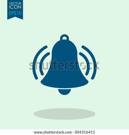 Ringing bell vector icon. - stock vector