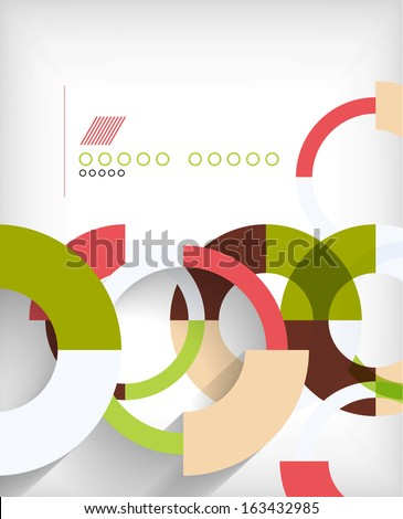 Rings geometric shapes abstract background - stock vector